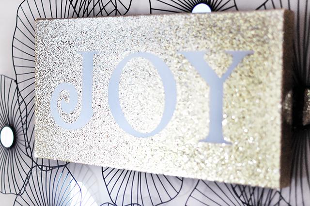 Glitter JOY canvas