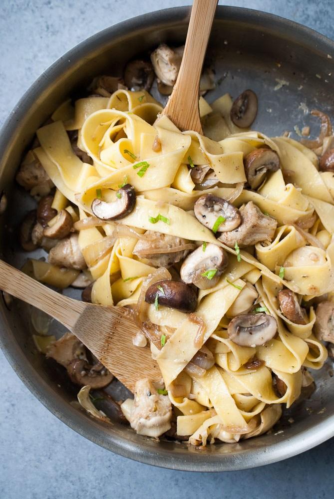 Grilled-Artichoke-Mushroom-Pasta-