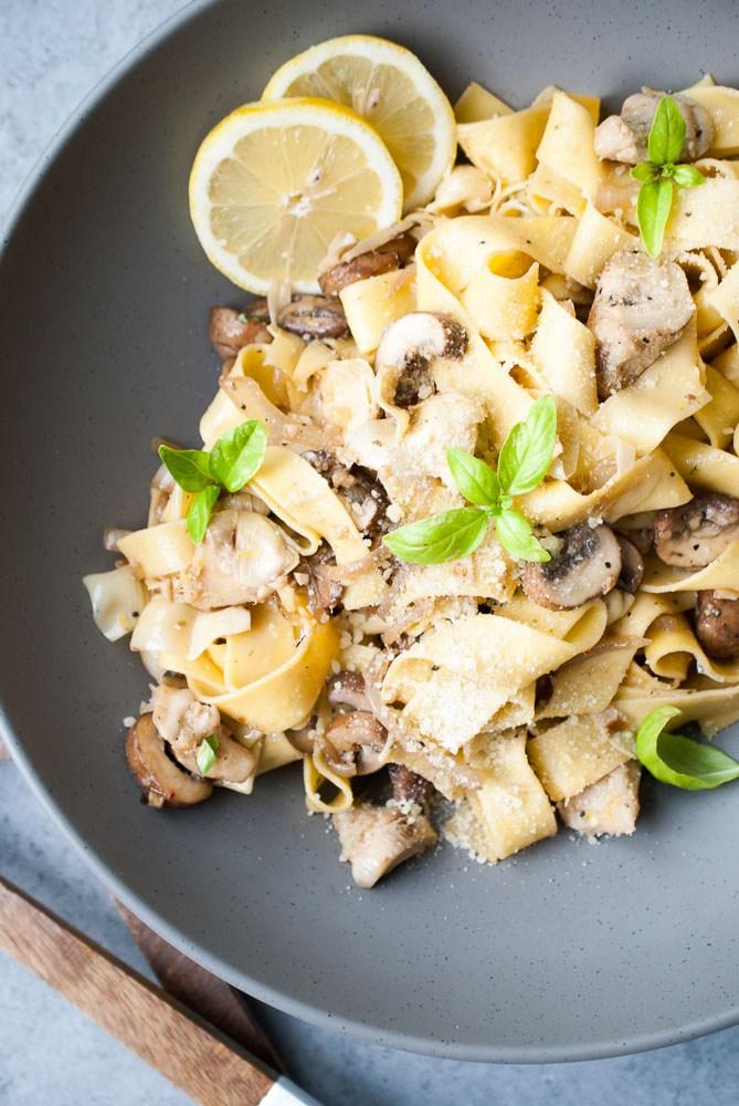 Grilled-Artichoke-Mushroom-Pasta dinner recipe