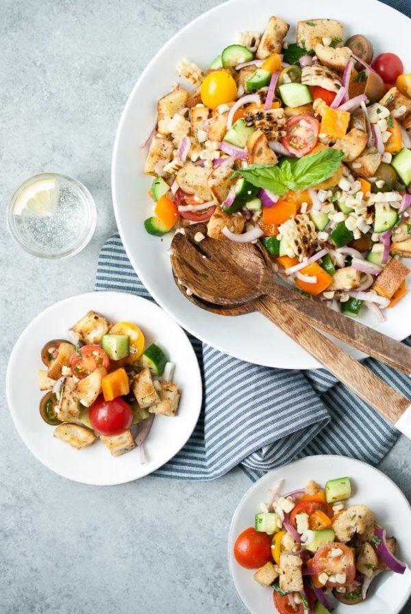 Spring Salad Recipe // Grilled-Corn-Panzanella
