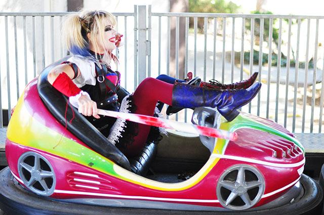 Harley Quinn Arkham Knight_ bumper cars