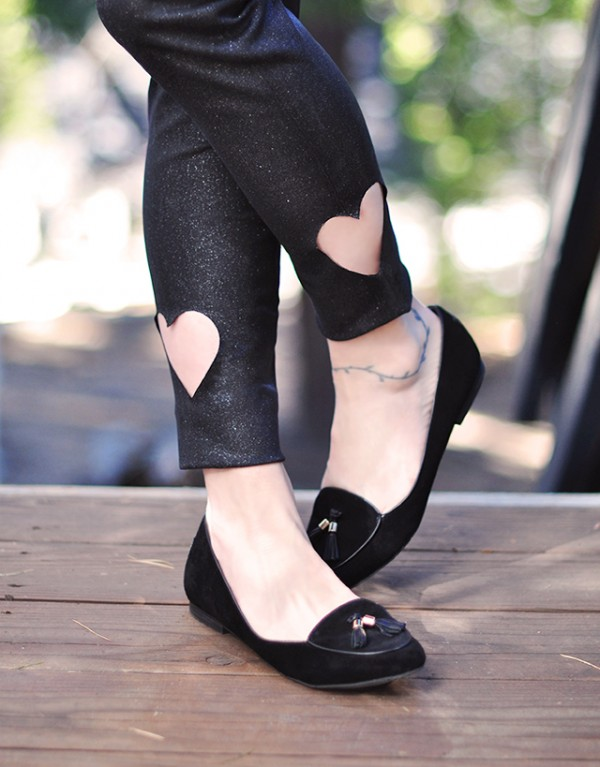 Heart Cut-out pants