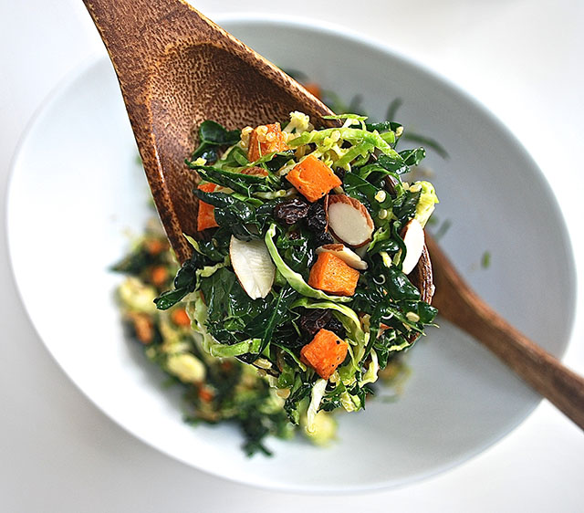 Recipe // Kale, Brussels Sprouts, & Sweet Potato Salad | ...love ...