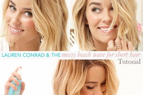 How-to Get Lauren Conrad's Beach Waves for Short Hair