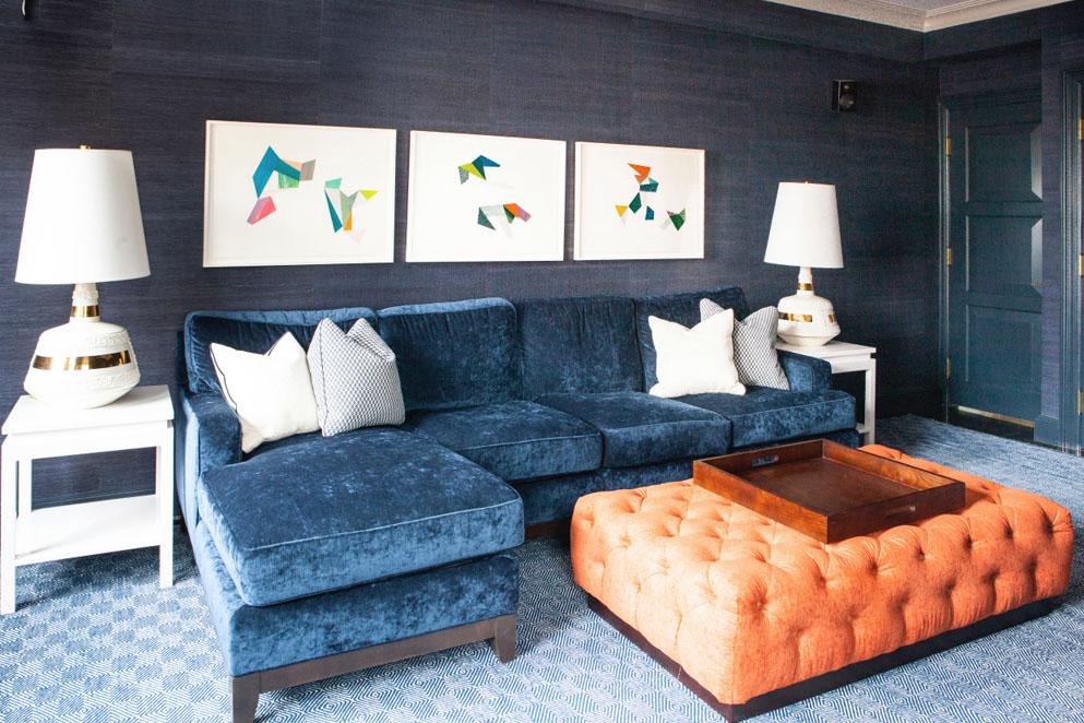 Lilly Bunn Interiors blue + orange
