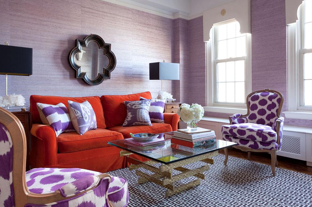 Lilly Bunn Interiors mixed prints living room