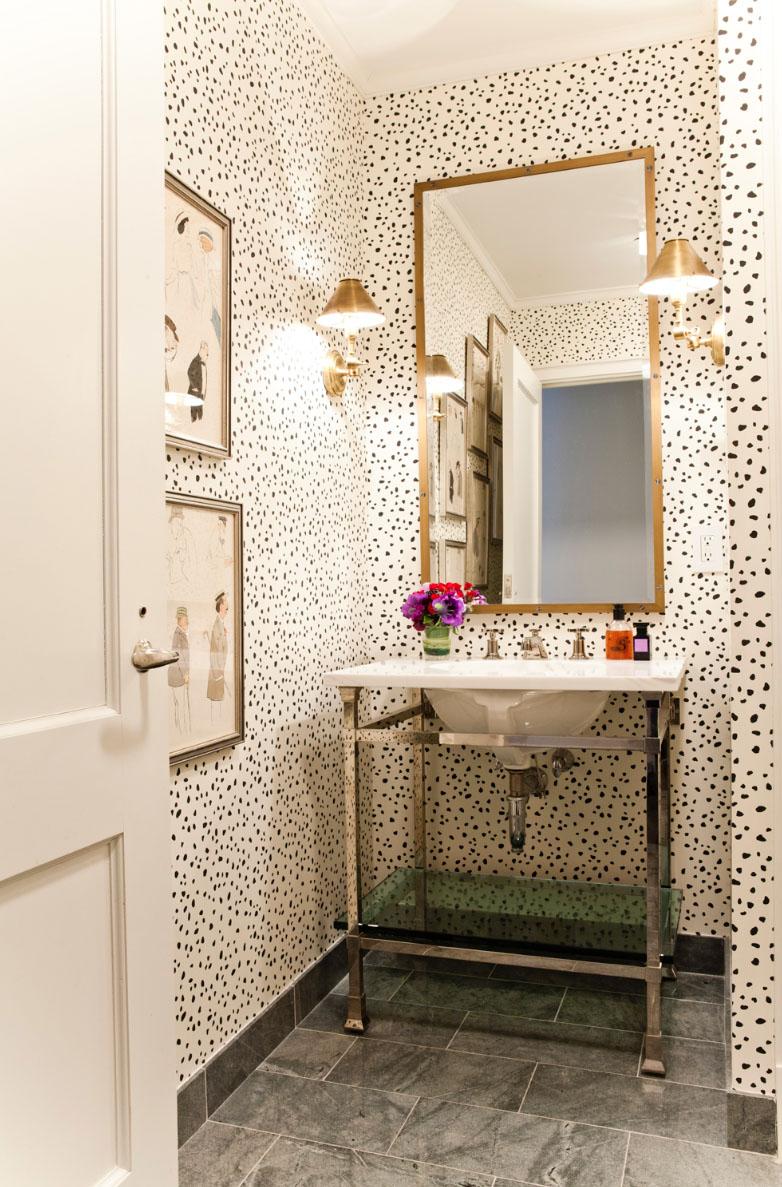 Lilly Bunn Interiors powder room wall paper