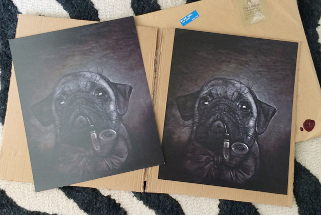 Luke Jervis Pug with Pipe art print