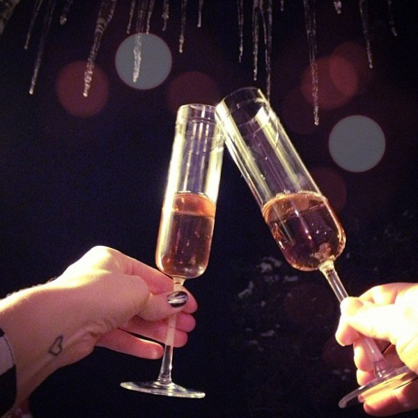 New Years Champagne Toast