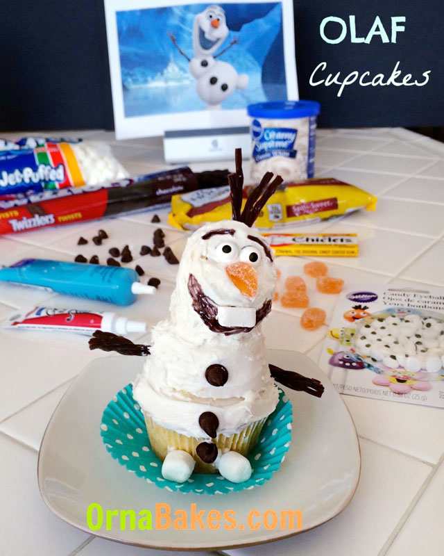 Olaf-the-Snowman-from-Frozen-Cupcakes-OrnaBakes