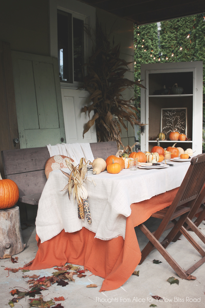 Thanksgiving tables fall tablescape inspiration for Outdoor table decorating ideas