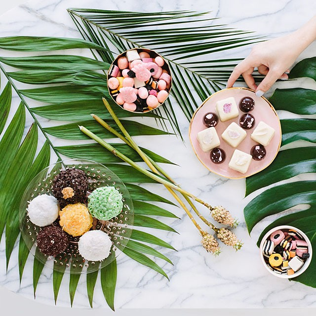 Palm Fronds table decor