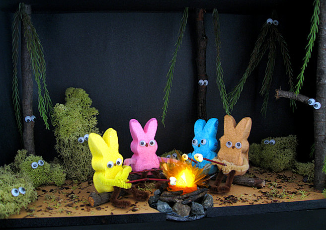 Peeps show for Easter