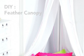 DIY Feather Canopy for Kids