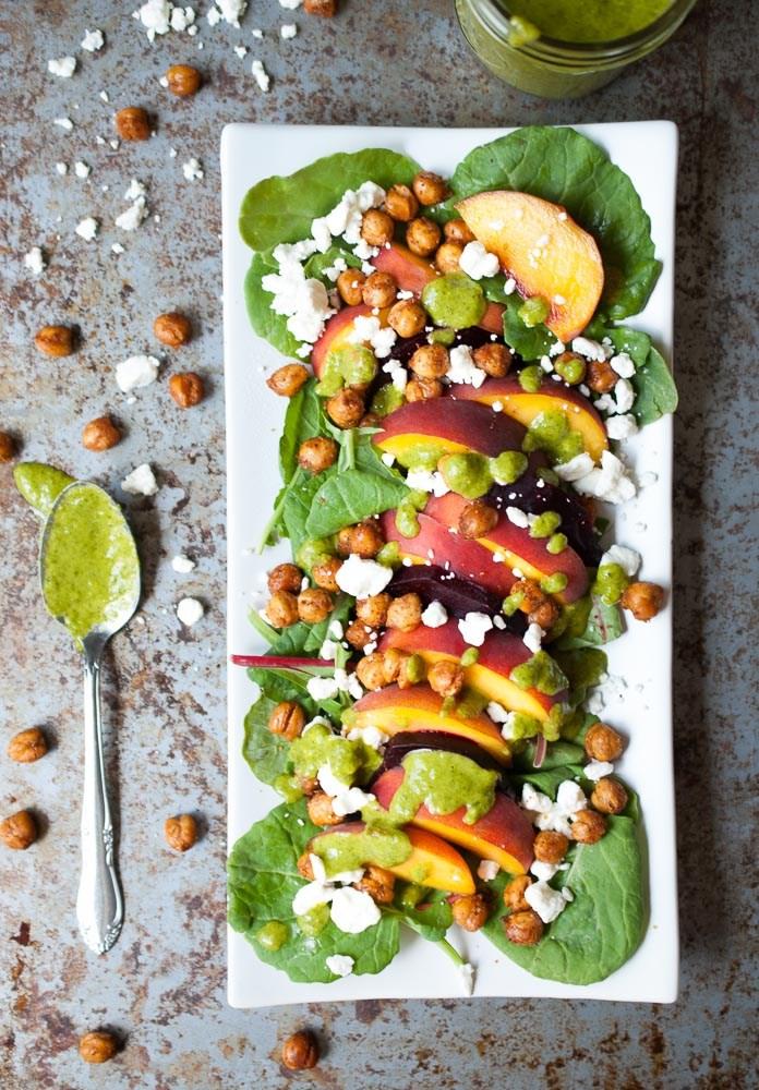 Roasted-Beet-Peach-Crispy-Chickpea-Salad-4