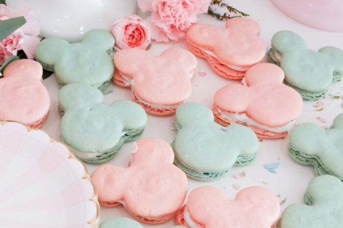 adorable vintage disney kids birthday party - mickey moucse macarons