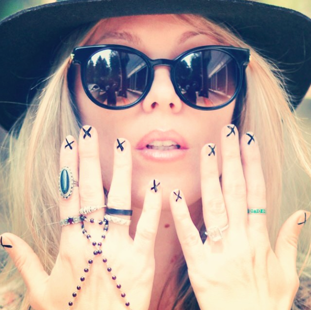 Boho style, Thierry Lasry Sunglasses, Silver accessories, X'd Out Nails