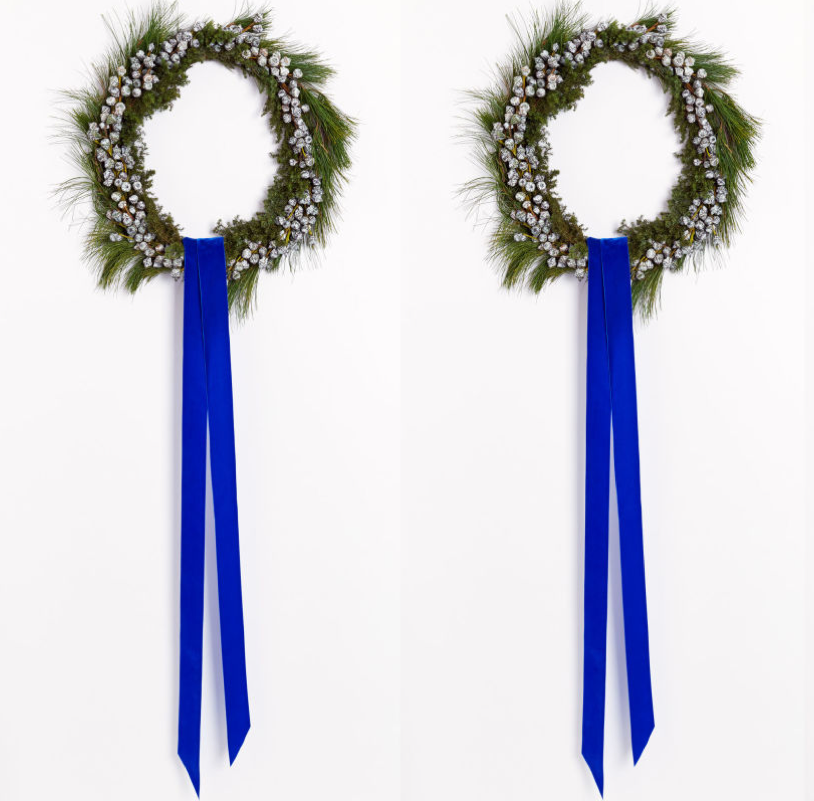 Modern Minimal Holiday Wreath DIY Tutorial