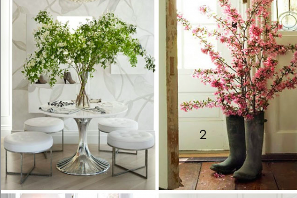 decorating with floral branches and trees from outdoors