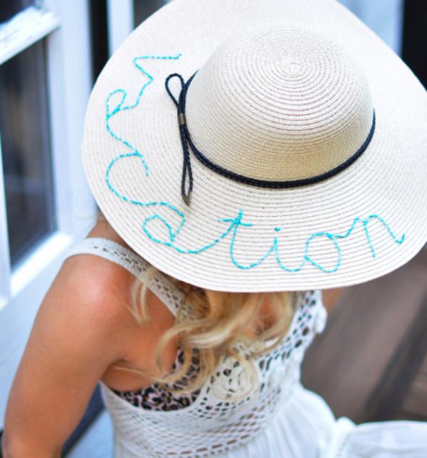 vacation sun hat
