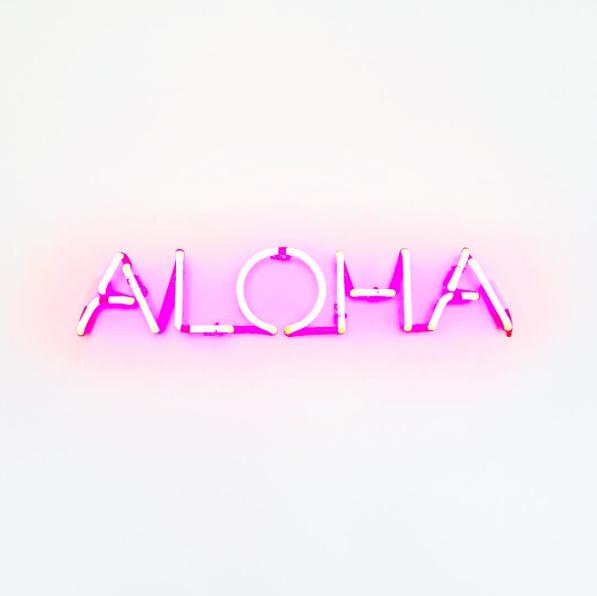 neon aloha sign