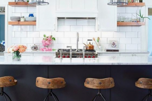 Home Decor // Navy + White High Contrast Kitchens