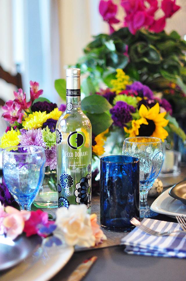 Summer to Fall floral tablescape_ Ecco Domani Wine