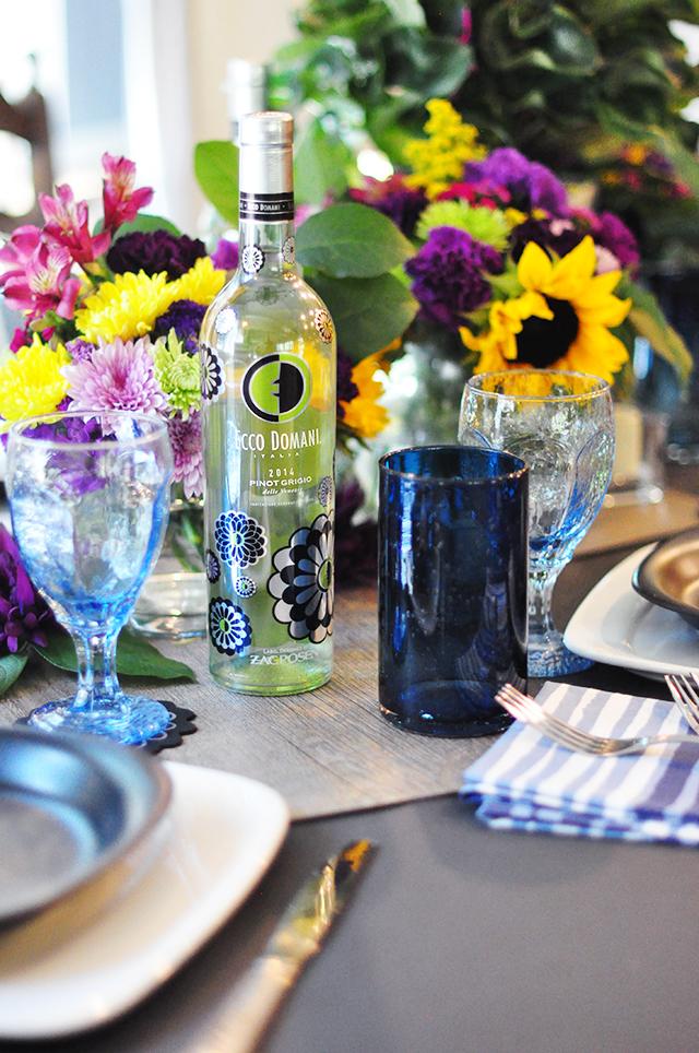Summer to Fall floral tablescape_Ecco Domani Wine