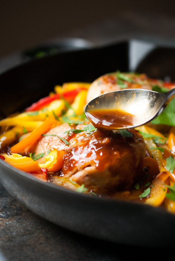 Sweet-Ginger-Glazed-Chicken-Peppers-5