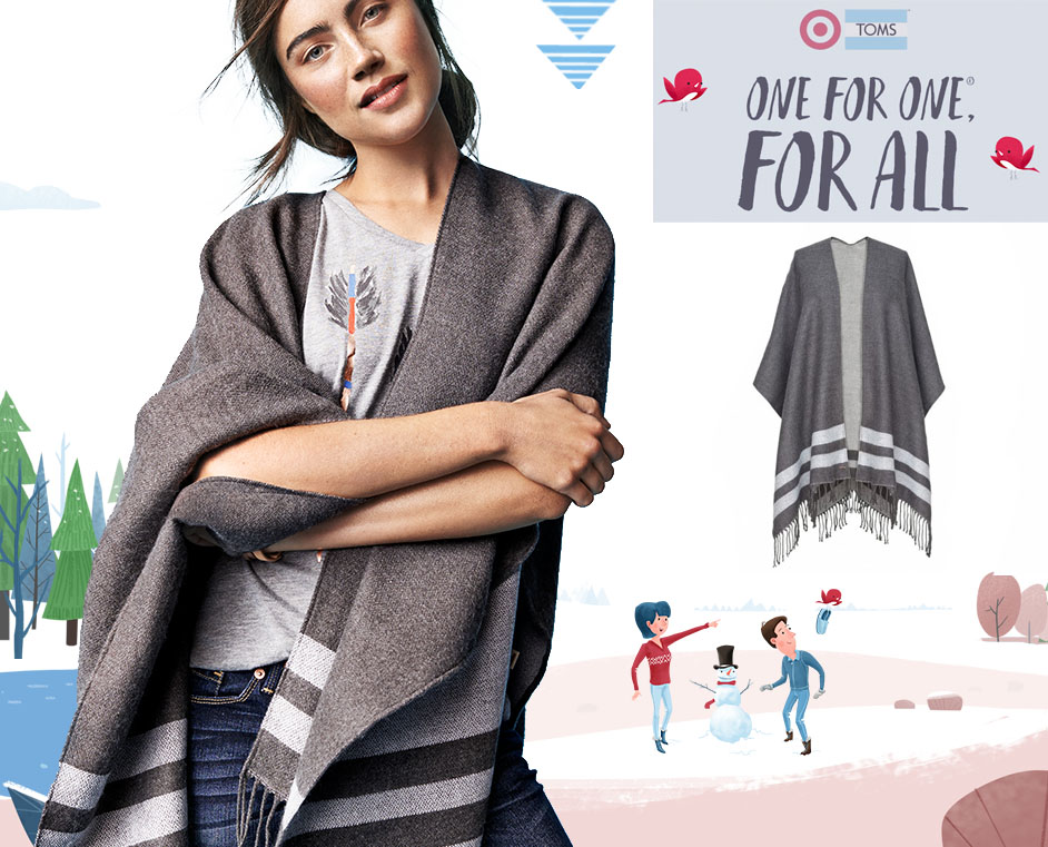 TOMSforTarget holiday gifts- poncho