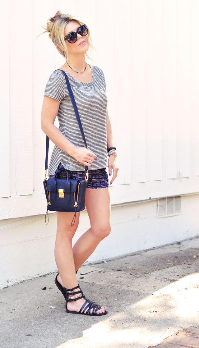TargetStyle - summer shorts-gladiator sandals