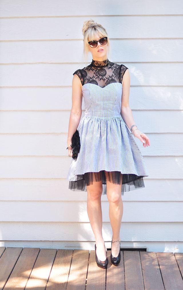 The Shelby Dress_ seersucker+lace