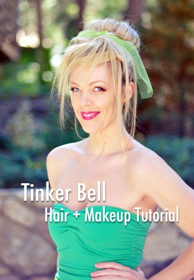 Tinker Bell Hair and Makeup Tutorial text