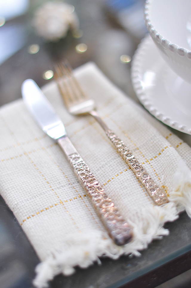 how to clean tarnished gold plated flatware