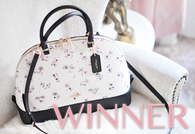 May Flowers Coach Bag Giveaway Winner Announced