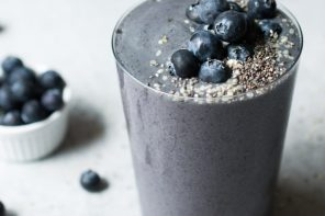 Summer Smoothie // Wild Blueberry Zucchini Smoothie