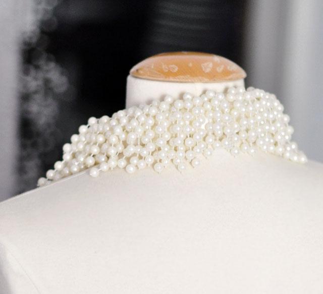 asymmetrical pearl necklace DIY