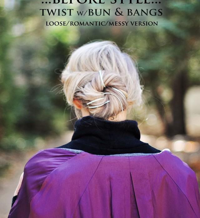 back of elsa hair  -  twist with bun hair tutorial