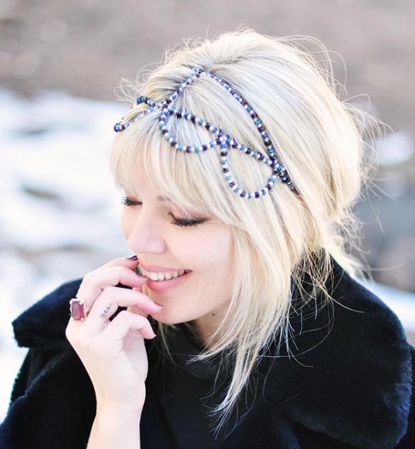beaded headband crown DIY