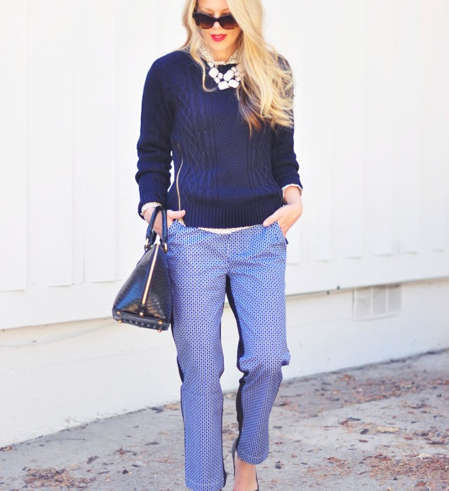 wearing black and navy and blue together