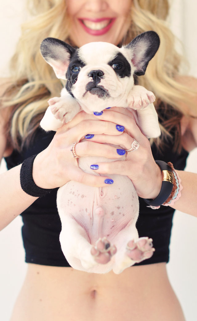 blue nails and puppy head