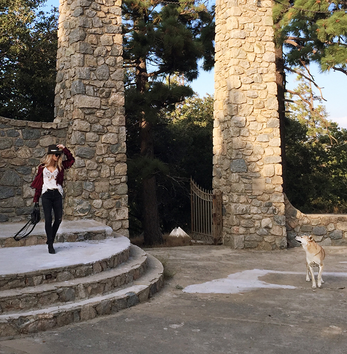 boho style-pillars of god -temple in crestline-ca mountains-love maegan