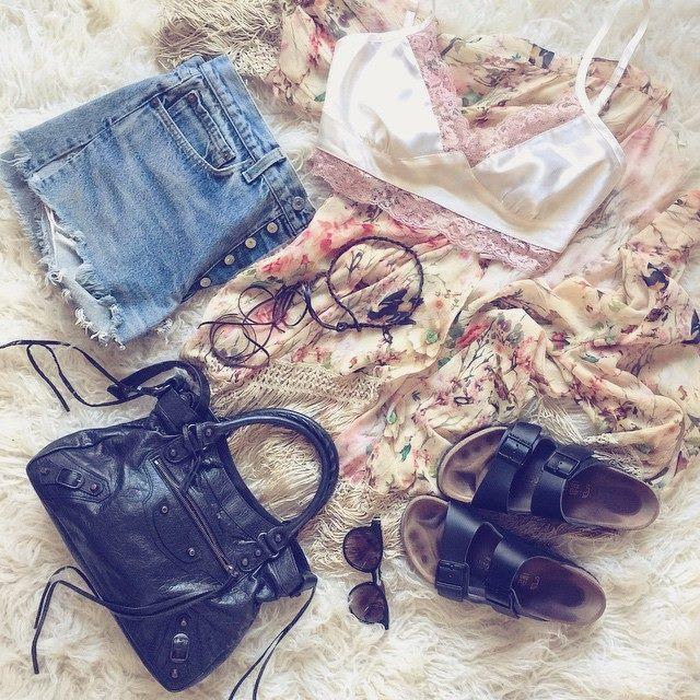 boho summer style_balenciaga bag