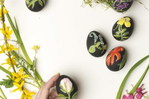 Eastery Ideas // 5 Black Easter Egg Decorating DIYs