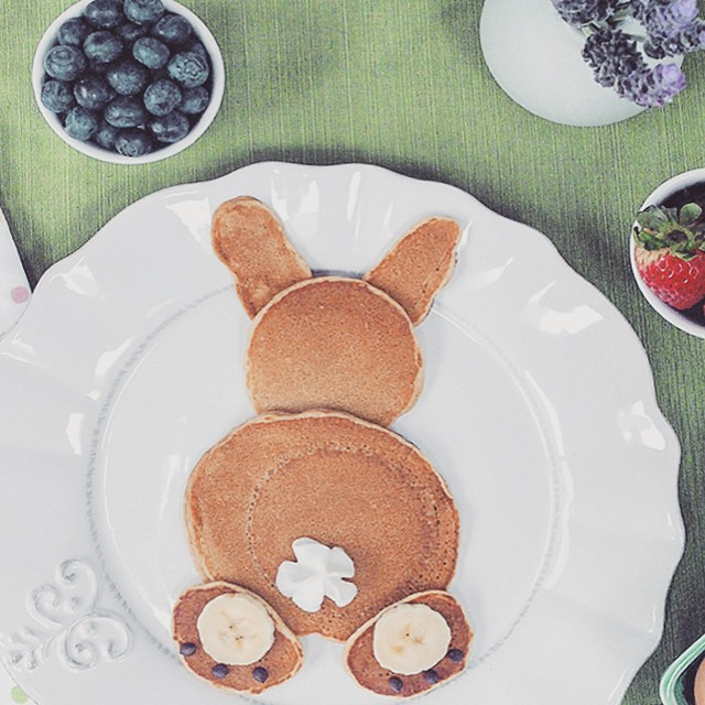 bunny pancakes for easter