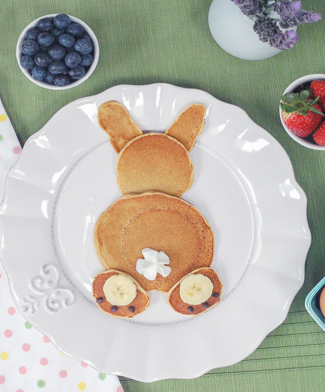 bunny pancakes for easter_2