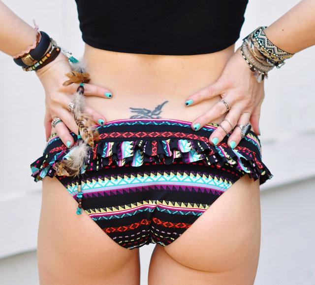 butt in bikini bottoms + nails