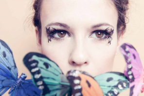 Enchanting Butterfly & Bird False Lashes by Paperself