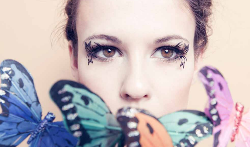 butterfly paper false eyelashes-feature