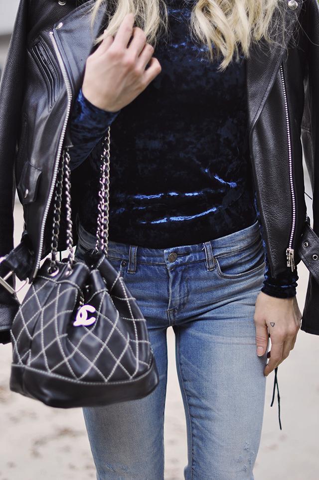 chanel-bag_leather-biker-jacket_denim_crushed-velvet_90s